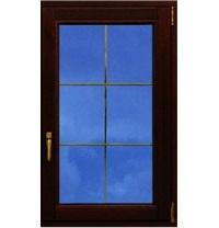 Ламіноване вікно Rehau зі шпросами 700x1500 мм