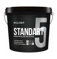 Інтер'єрна фарба Kolorit Standart 5 матова база А 9 л