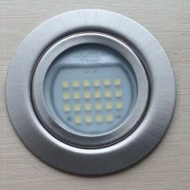 Светильник мебельный врезной светодиодный G4 1,7 Вт белый