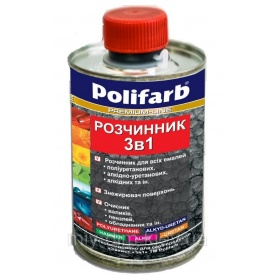Растворитель 3 в 1 Polifarb 0,4 л бесцветный