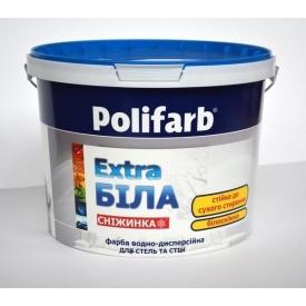 Краска Polifarb СНЕЖИНКА 3,8 кг белая