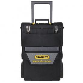 Ящик с колесами Stanley IML Mobile Work Center 2 in 1 пластмассовый, 473 x 302 x 627 мм. 1-93-968