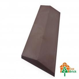 Конек для забора бетонный 180х500 мм коричневый