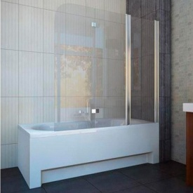 Шторка на ванну трехэлементная 1150х1400 (QP96(right) chrome grape)