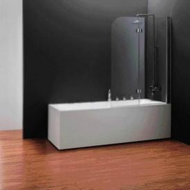 Шторка на ванну двухэлементная 1150x1400 (QP97(right) chrome clear)
