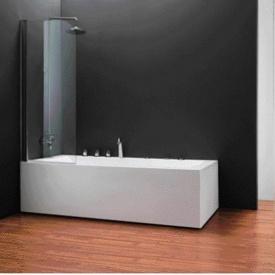 Шторка на ванну одноэлементная 750х1400 (QP93(left) chrome clear)