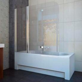 Шторка на ванну трехэлементная 1500x1400 (QP96(left) chrome grape)