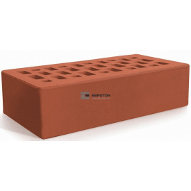 Цегла облицювальна ЄВРОТОН керамічна червона гладка 250х120х65 мм