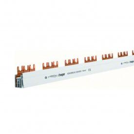 Шина соединительная вилочная HAGER 3p 57 модулей 16 мм2 с изоляцией (KDN380B)