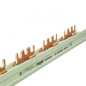 Шина соединительная вилочная HAGER 3p 12 модулей 10 мм2 с изоляцией (KDN363A)