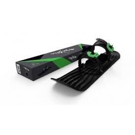 Монолыжа Plastkon OneFoot Miniski черная с зелёным