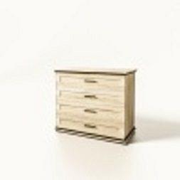 Комод Мир Мебели Палермо 4Ш 92x80x48 дуб сонома