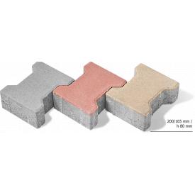 Тротуарная плитка Двойное Т бетонная сухопрессованная 8 см