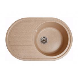 Кухонная мойка Galati Elegancia гранит 77х50х20 см Piesok (301)