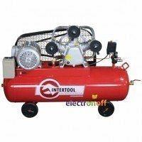 Компрессор 100 л, 5 HP, 4 кВт, 380 В, 8 атм, 600 л/мин 3 цилиндра PT-0036 Intertool