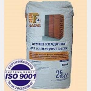 Суміш кладочна FASAD для клінкерної цегли 25 кг чорна