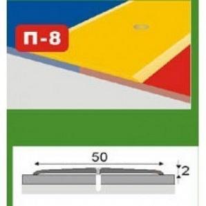 Стикоперекриваючий рівнорівневий профіль П-8 плоский 0,9 м