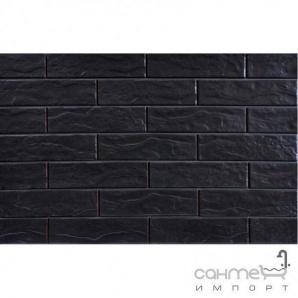 Фасадна плитка 245х65 CERRAD ELEWACJA Nero 9713 (чорна, структурна)
