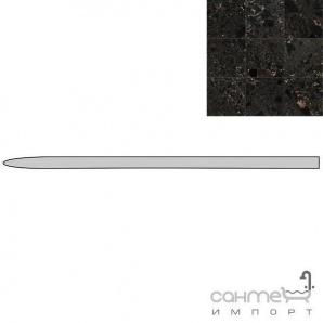 Керамограніт спеціальний елемент REх I MARMI DI REх MARBLE BLACK ANGOLO Q. ROUND LUC. 1х16 729034
