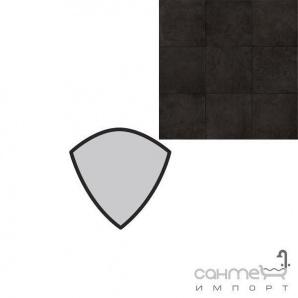 Керамограніт спеціальний елемент REх UNIQUE NOIR TORELLO AE 4х4 734 013