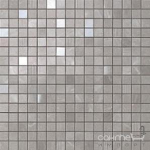 Плитка з білої глини мозаїка Atlas Concorde Marvel Grey Fleury Mosaic 9MVE