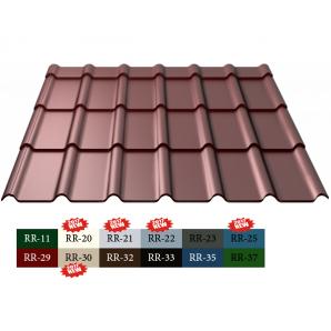 Металлочерепица Ruukki Decorrey Polyester 0,5 мм Светло-коричневый (RR30)