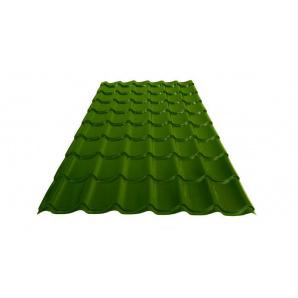 Металлочерепица ЭДЕМ-СТРОЙ Monterrey матовая 0,45 мм 1100х1190 мм RAL 6020 Хромовый зеленый (Польша)
