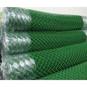 Сітка рабиця з ПВХ покриттям 2,5/1,5 мм 35х35 мм 1,2х10 м зелена