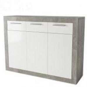 Комод Світ Меблів Омега 3Д3Ш 89x36,6x117,4 см бетон білий