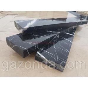 Камінь облицювальний мармуровий 1,2х5х25 см чорний