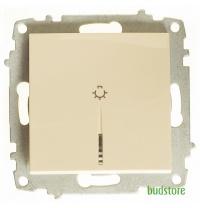 Вимикач кнопковий з підсвічуванням без рамки EL-BI Zena крем 609-010300-206