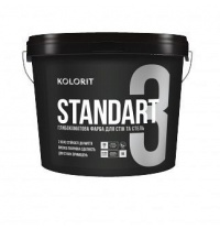 Краска латексная KOLORIT Standart 3 9 л