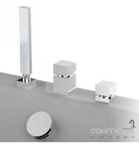 Врізний змішувач для ванни на 3 отвори з наповненням через перелив GRB Kala 60231600 хром