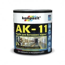 Краска для бетонных полов KOMPOZIT АК-11 белая 2,8 кг