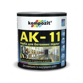 Краска для бетонных полов KOMPOZIT АК-11 База С 2,8 кг