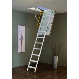 Чердачная лестница Steel Termo 120х60 см Minka белая металлическая с утепленным люком