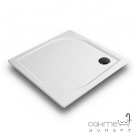 Квадратный душевой поддон из литого мрамора Gronix Deniz D1-100100-3 белый