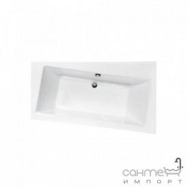 Асимметричная ванна Besco PMD Piramida Infinity 160x100 белая правая