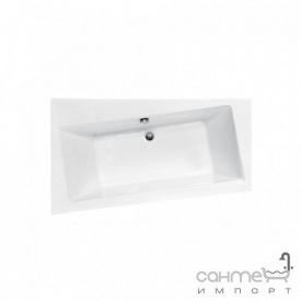 Асимметричная ванна Besco PMD Piramida Infinity 150x90 белая левая