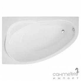 Ассиметричная ванна Polimat Marea 160x100 L 00534 белая левая