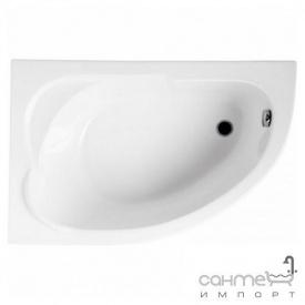 Асиметрична ванна Polimat Standard 130x85 L 00350 біла ліва