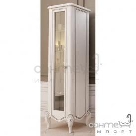 Пенал підлоговий правий Marsan Melissa білий декор золото бронза фурнітура