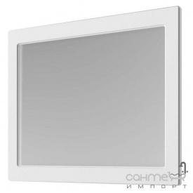 Зеркало Аква Родос Беатриче 100 белое патина хром