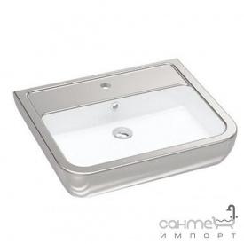 Раковина Idevit Halley 3201-0455-12 белая серебро