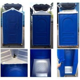 Автономная душевая кабина 2,65х1,15х1,15 м синяя