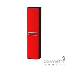Пенал для ванної кімнати підвісний Botticelli Vanessa VNP-170 фасад червоний глянець корпус чорний глянець