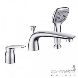 Смеситель для ванны на три отверстия Imprese Praha new 85030 хром