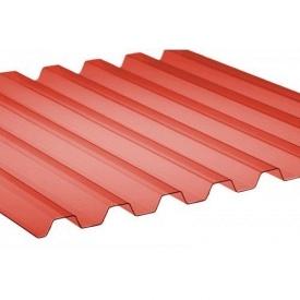Профилированный ПВХ ONDEX 70/18 трапеция 2500x1095х0,8 мм красный