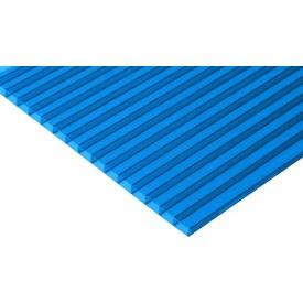 Сотовый поликарбонат Placarb 6000x2100х10 мм синий