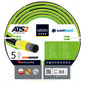Шланг садовий Cellfast Green ATS2 для поливу 3/4 дюйма 25 м
